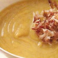 Crema de cebolla con jamón ibérico