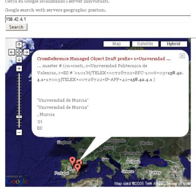 Combinando Traceroute y Google Maps