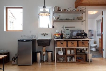 Antes y después: un garaje convertido en una pequeña vivienda