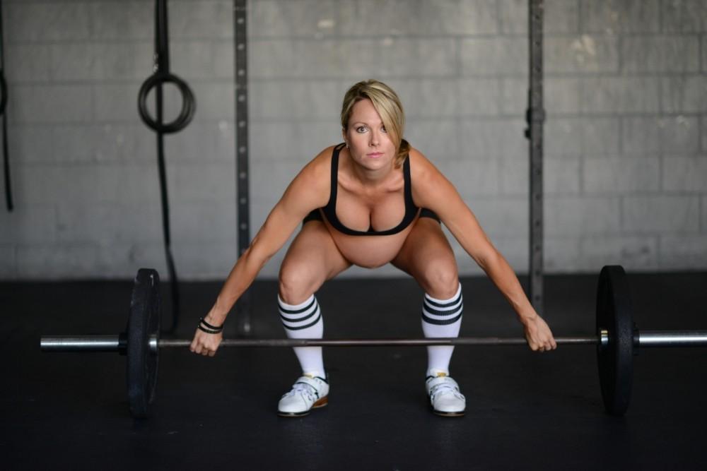 Levanta pesas a las 38 semanas