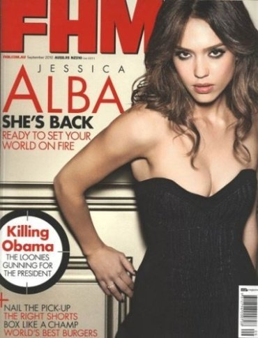 Jessica Alba, muy sexy y tremebunda para FHM Australia