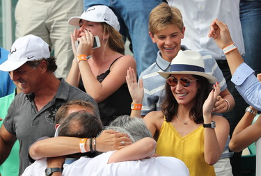 El look que escogió Xisca Perelló para ver ganar a su novio Rafa Nadal en la final de Roland Garros
