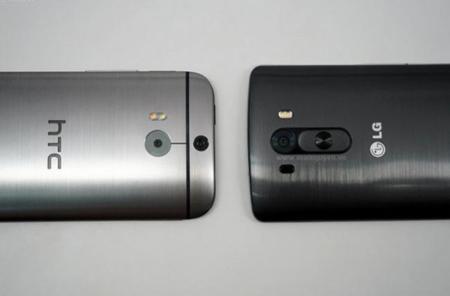 Una foto filtrada nos permite comparar el tamaño del nuevo G3 de LG y del HTC One (M8)