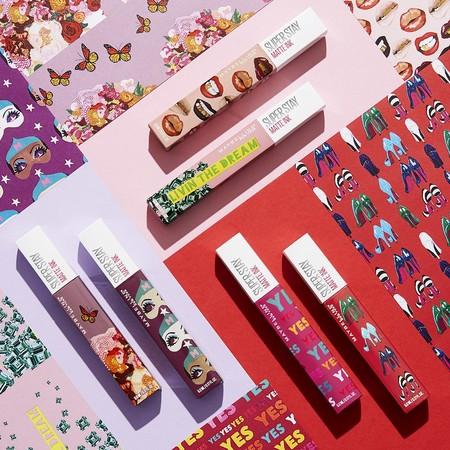 Simplemente ideales, así son los labiales Matte INK de Maybelline en edición limitada diseñados Ashley Longshore