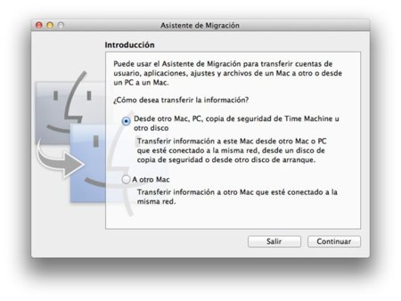 Mac OS X 10.7 Lion Beta Asistente de Migración