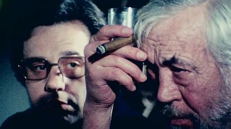 John Huston y Peter Bogdanovich