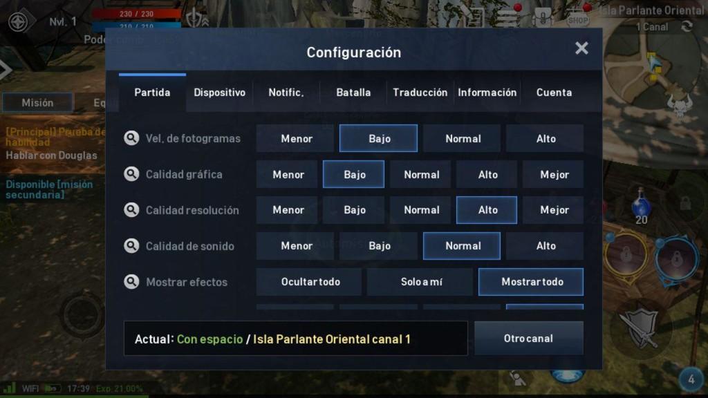 Configuracion Grafica