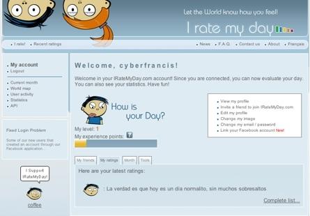 I Rate My Day, compartiendo tus sensaciones diarias con el resto de usuarios