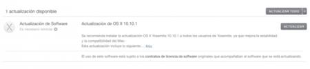 OS X Yosemite 10.10.1, taza y media de actualizaciones