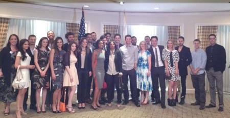 obama con los famosos