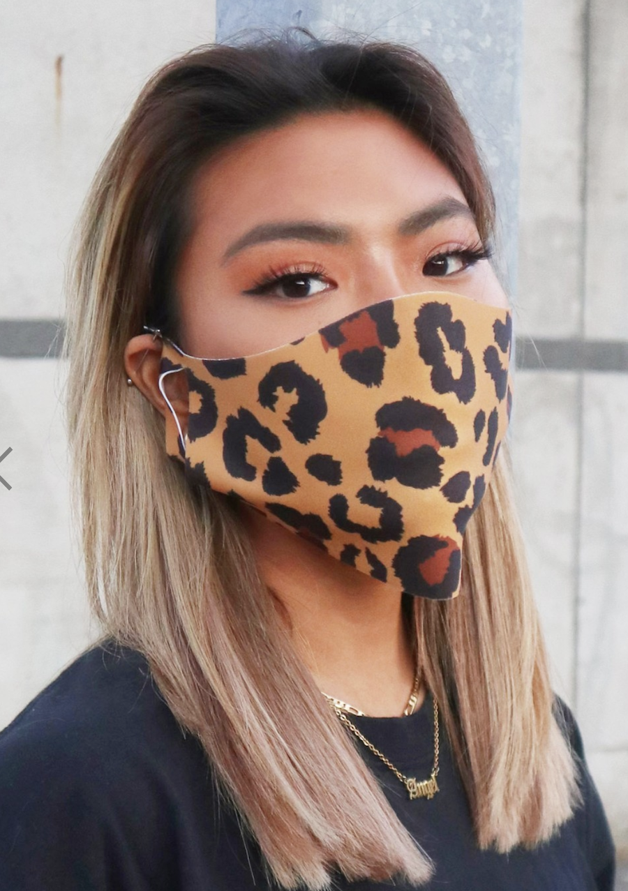 Pack de 2 mascarillas unisex con estampado animal de ASOS DESIGN