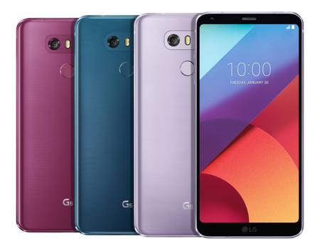 LG confirma tres nuevos colores para el LG G6 y dos para el LG Q6