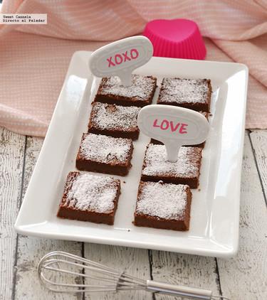 Brownies de Nutella. Receta para San Valentín