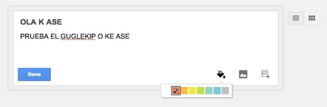 google keep color nota