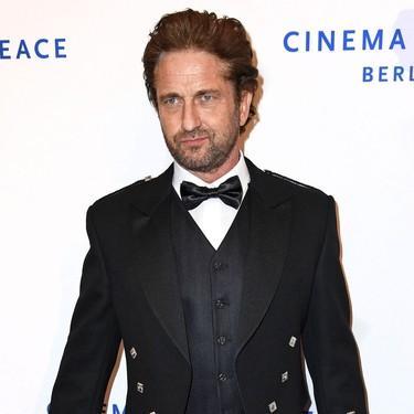 En la Berlinale, Gerard Butler demuestra que el kilt es tan elegante como el traje para una alfombra roja