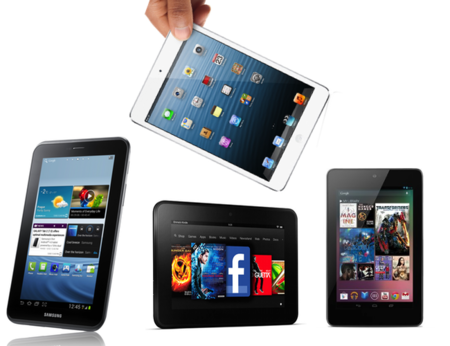 iPad mini frente al Nexus 7, Tab 2 y Fire HD