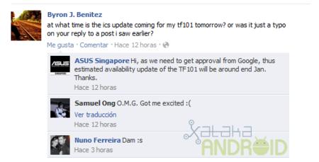 Asus Singapur anuncia actualización de Eee Pad Transformer