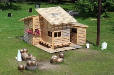 Casas hechas con palés