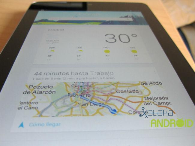 Google Now en Nexus 7