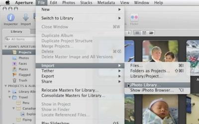 Importa tu biblioteca de iPhoto al nuevo Aperture 3 en un paso