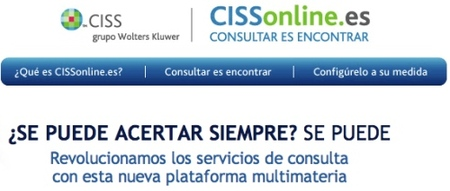 CISSonline, base de datos fiscal, contable y laboral