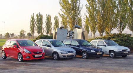 Opel Corsa, cuatro generaciones