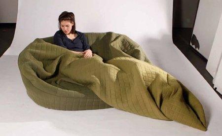 El sofá-manta