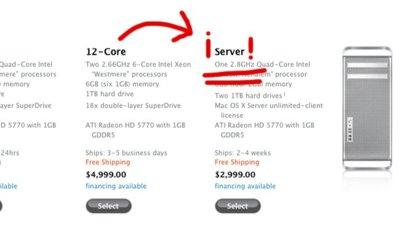 Y tras la muerte del Xserve, llega el Mac Pro Server