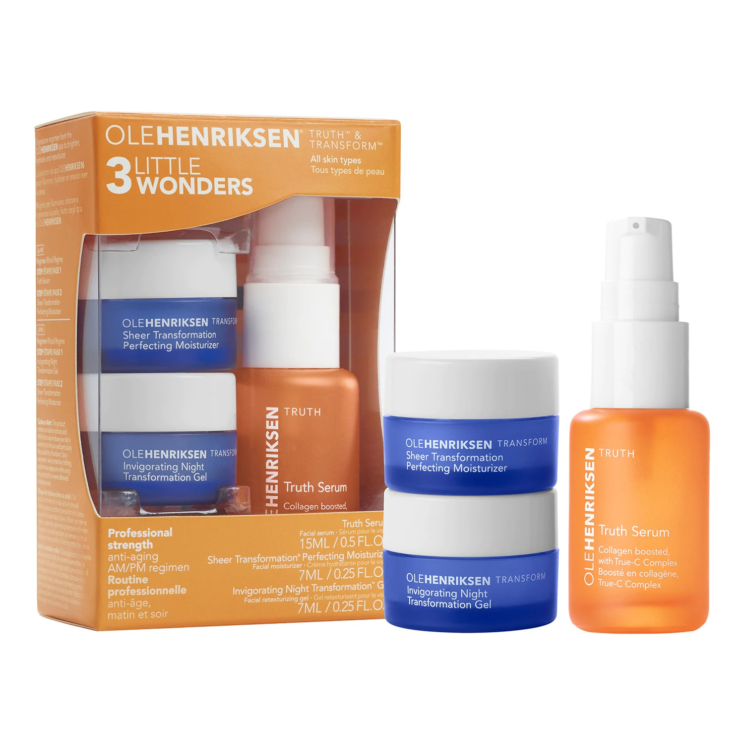 3 Little Wonders Mini Mini Age-Skincare Set de  Olehenriksen