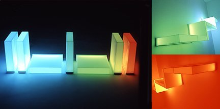 Mood Light Shelf, estanterías de colores