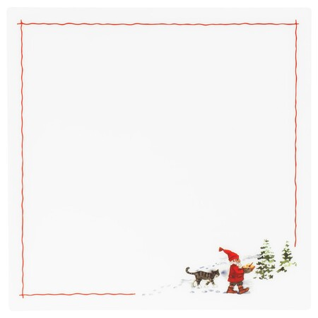 Vinter 2020 Mantel Individual Motivo Santa Claus Blanco Rojo 0890978 Pe782214 S5
