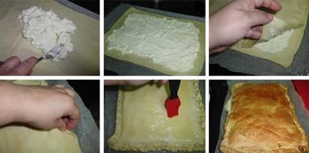 Preparación del Borek de queso