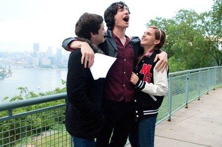 Logan Lerman, Ezra Miller y Emma Watson