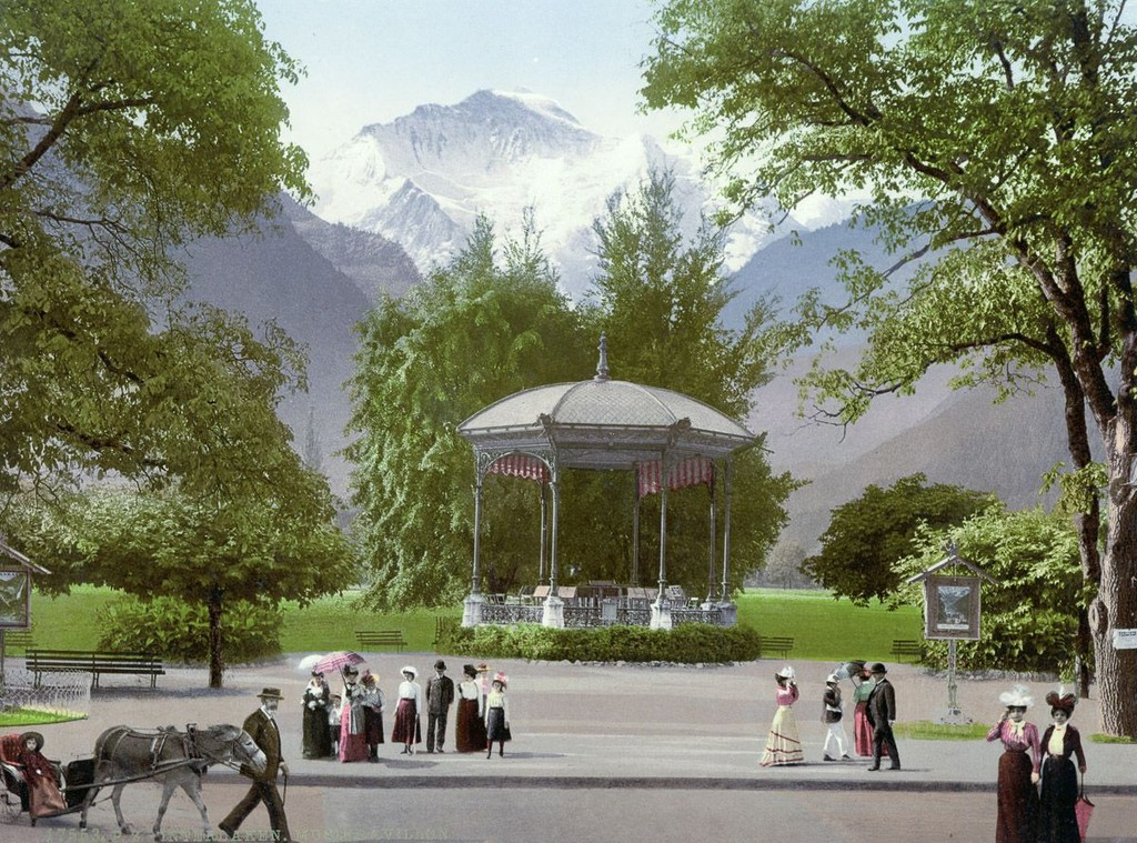 The Music Pavilion Of The Town Of Interlaken Bernese Oberland