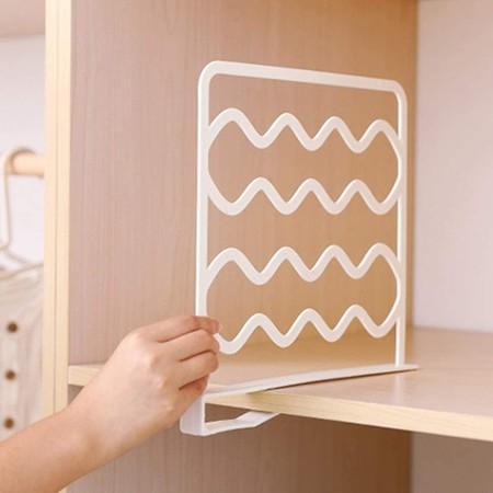 QLING 2 separadores de estantes, práctico Separador de Armario para Dormitorio, baño, Cocina y Oficina, sin perforación, Organizador de...