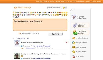 Xmensaje, servicio de microblogging en español desde Argentina
