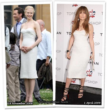 Vestido de L'Wren Scott: ¿Nicole o Jennifer?
