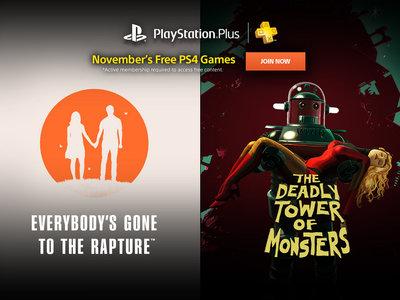 Confirmados los seis juegos que se podrán conseguir en PlayStation Plus en noviembre