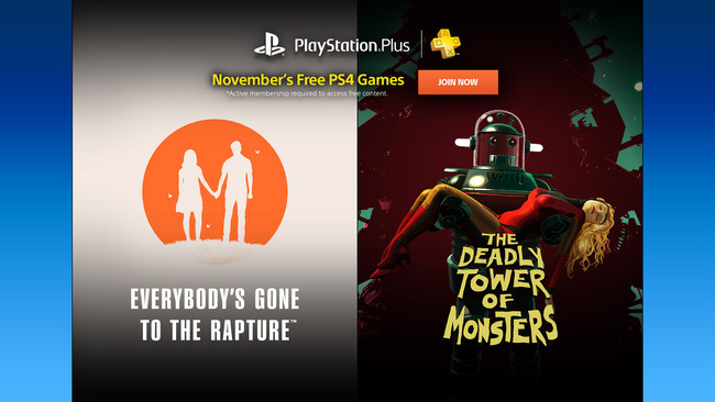 Playstation Plus Noviembre