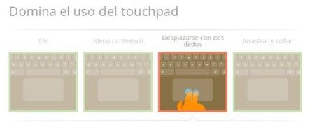 chrome os google tutorial gestos multitouch trackpad chromebook
