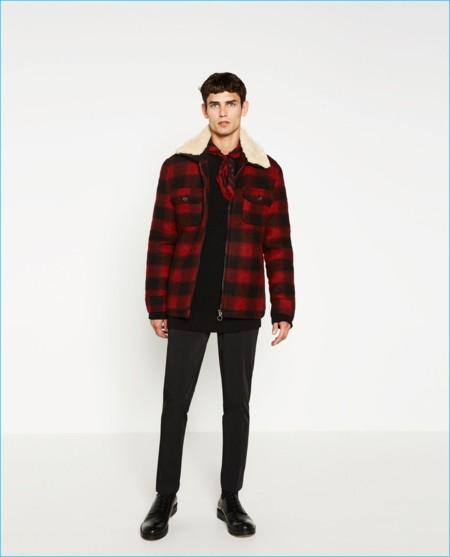 Zara Man Buffalo Check Jacket