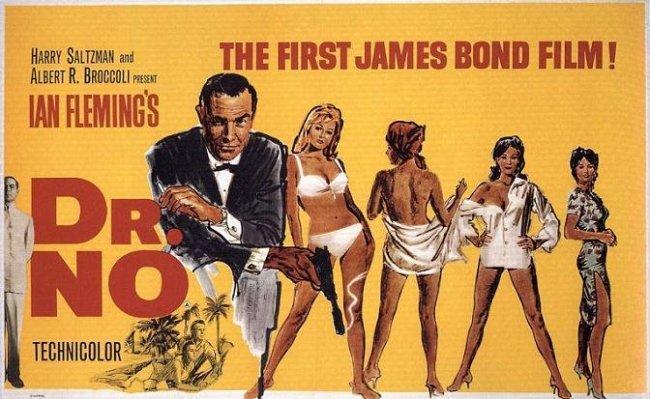 Imagen con el cartel de 'Agente 007 contra el Dr. No'