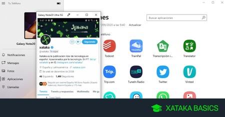 Cómo ejecutar las apps de tu móvil Samsung en Windows con la herramienta Tu Teléfono