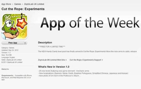Apple mejora la visibilidad de aplicaciones: una aplicación gratis por semana, y Selección Editorial