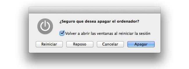 El cambio de comportamiento en el botón de encendido de los Mac y OS X Mavericks