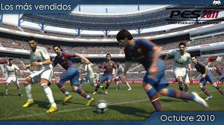 Los juegos más vendidos en España. Octubre 2010