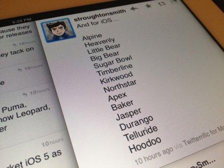 Los nombres clave de iOS salen a la luz