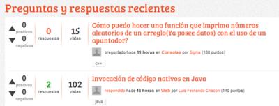 entre Desarrolladores un Stack Overflow hispano
