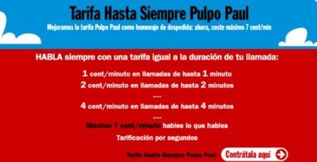 """Tarifa """"Hasta siempre Pulpo Paul"""", Pepephone rebajas de luto"""