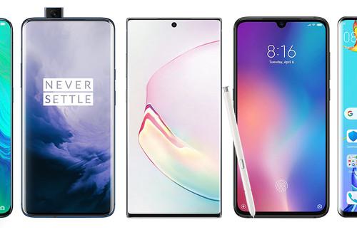 Samsung Galaxy Note 10 y 10+, así quedan frente a la gama alta Android como el Xiaomi Mi 9, el Huawei P30 Pro o el OnePlus 7 Pro